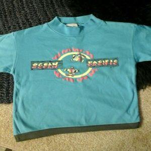 🔴 5/$15 OP Teal Blue T-Shirt NWT